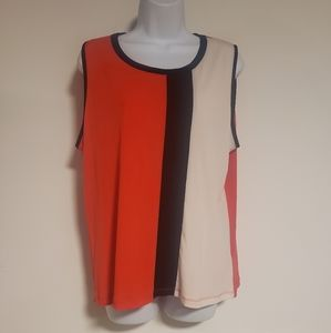 Size XL Jones New York Color Block Tank Top